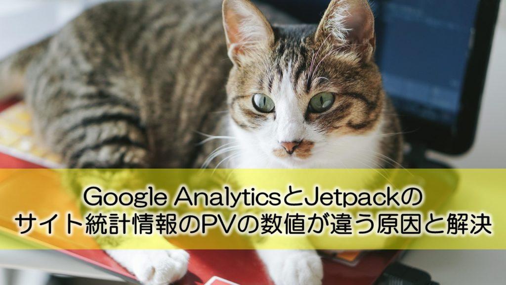 Google AnalyticsとJetpackのサイト統計情報のPVの数値が違う原因と解決