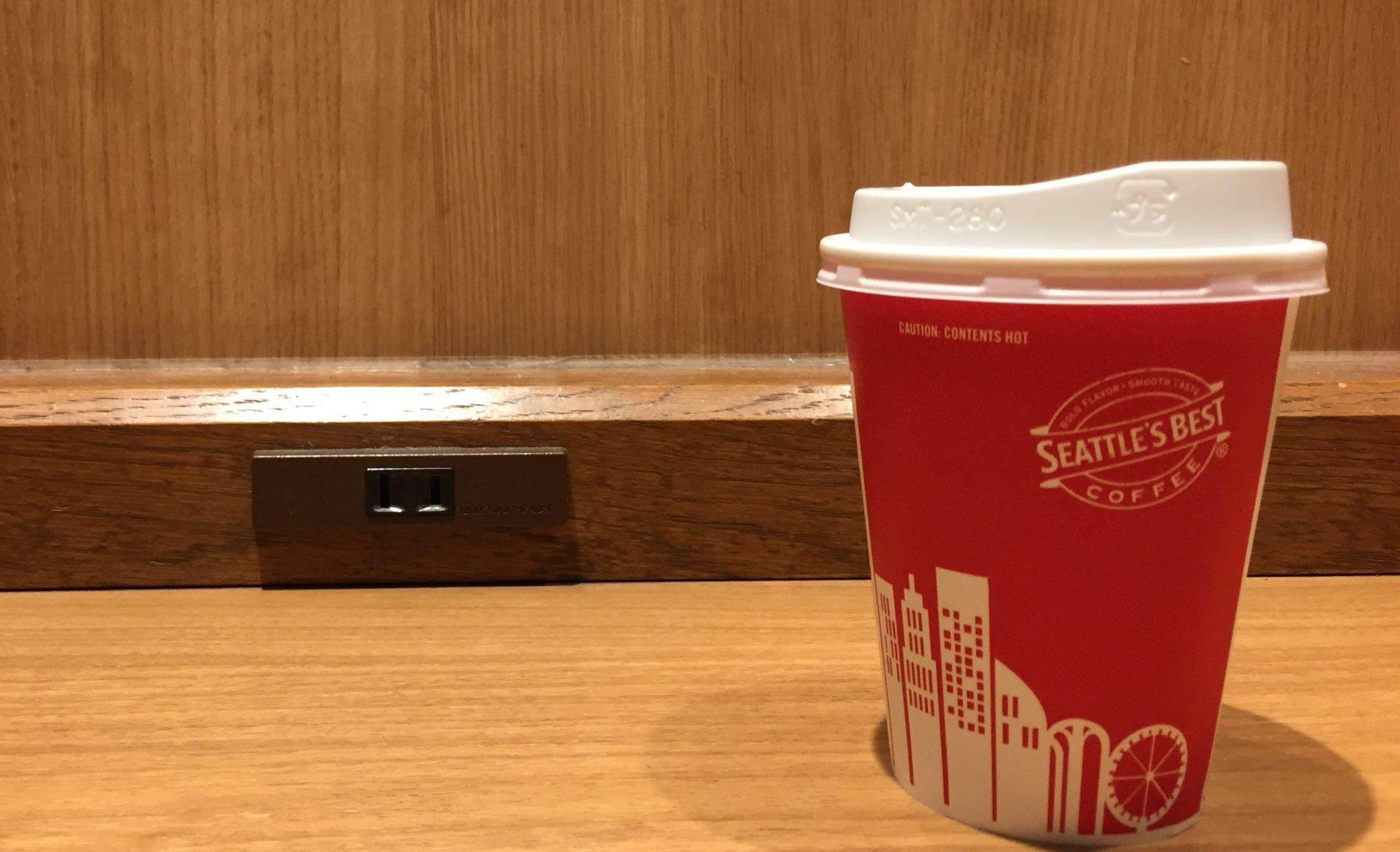 東梅田駅 電源カフェ シアトルズベストコーヒー 梅田DTタワー店 Wi-Fi